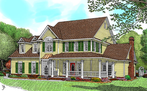 Country Farmhouse House Plan 96825 Elevation