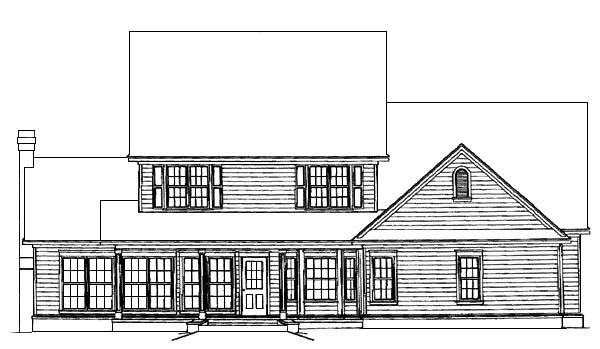 Country Farmhouse House Plan 96825 Rear Elevation