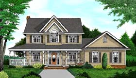 Country Farmhouse House Plan 96832 Elevation