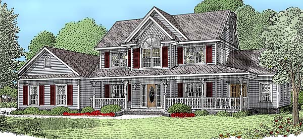 Country Farmhouse House Plan 96833 Elevation