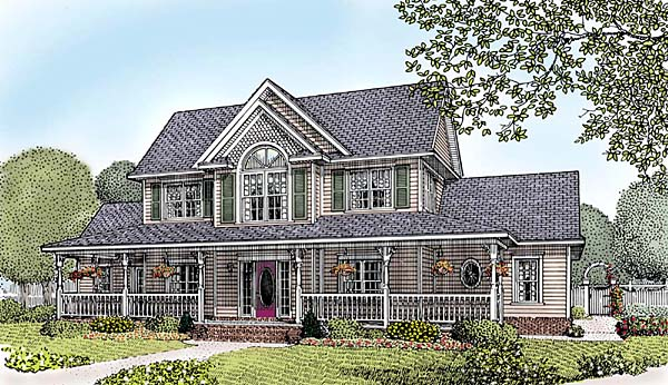 Country Farmhouse Southern House Plan 96834 Elevation