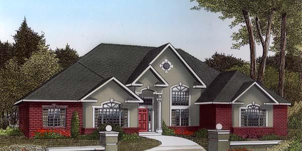 European House Plan 96835 Elevation