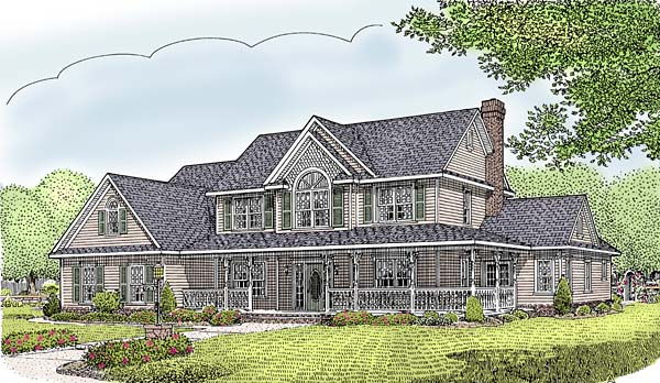 Country Farmhouse House Plan 96839 Elevation