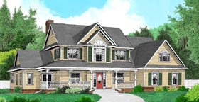 Country Farmhouse House Plan 96864 Elevation