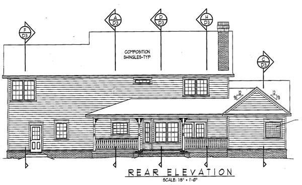 Country Farmhouse House Plan 96864 Rear Elevation