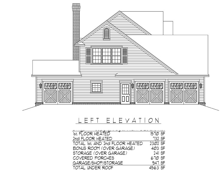 Country, Farmhouse House Plan 96865 with 4 Beds, 3 Baths, 2 Car Garage Picture 1