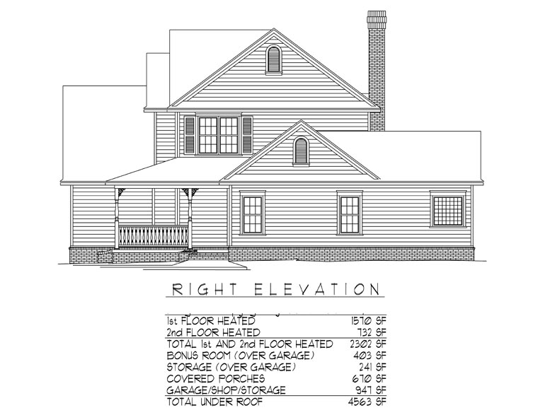 Country, Farmhouse House Plan 96865 with 4 Beds, 3 Baths, 2 Car Garage Picture 2