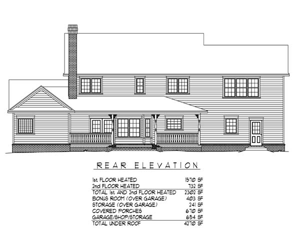 Country Farmhouse House Plan 96866 Rear Elevation