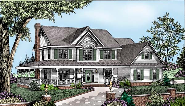 Country Farmhouse House Plan 96874 Elevation