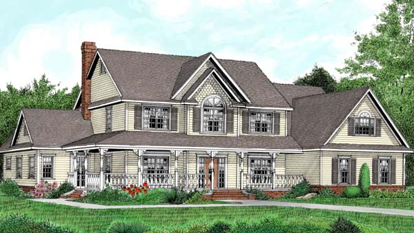 Country Farmhouse House Plan 96881 Elevation