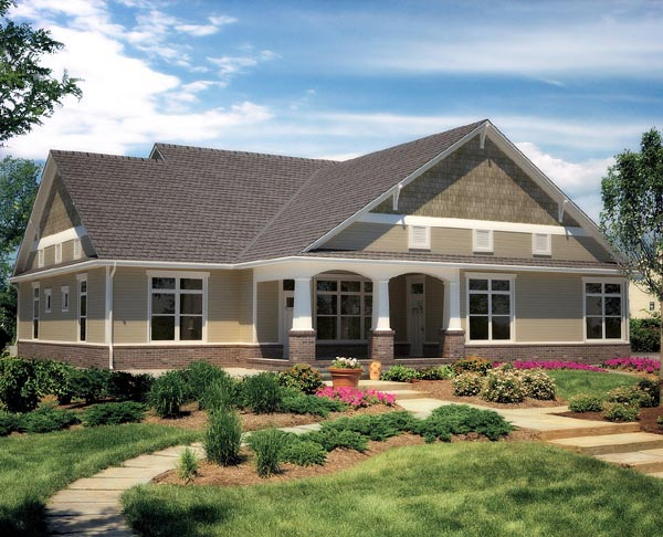 Craftsman House Plan 96887 Rear Elevation