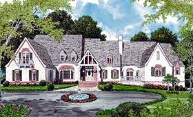 European House Plan 96902 with 4 Beds, 7 Baths, 3 Car Garage Elevation