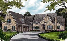 European House Plan 96905 with 6 Beds, 8 Baths, 3 Car Garage Elevation