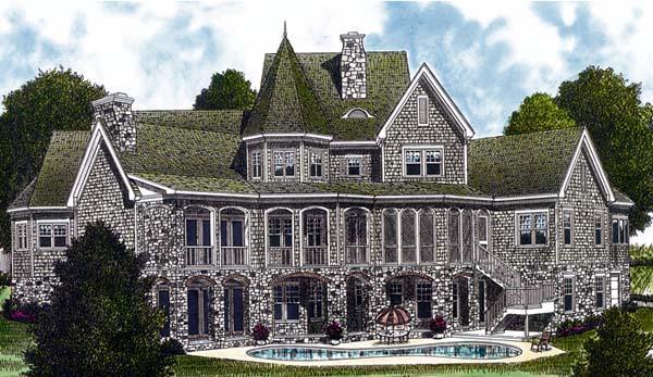 Cottage Craftsman House Plan 96908 Rear Elevation