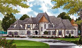 House Plan 96916 | Country European Style Plan with 8933 Sq Ft, 7 Bedrooms, 8 Bathrooms, 3 Car Garage Elevation