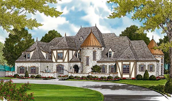 Country European House Plan 96916 Elevation