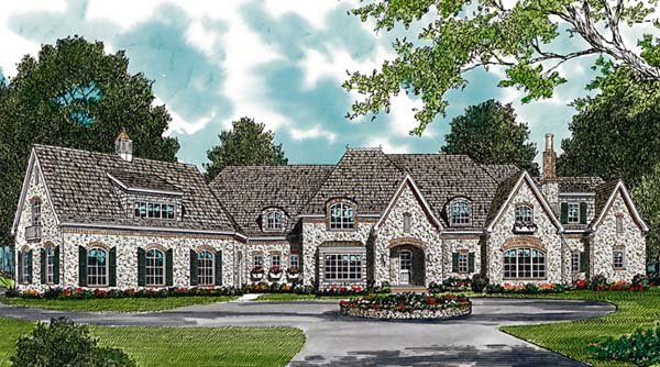 European House Plan 96917 Elevation