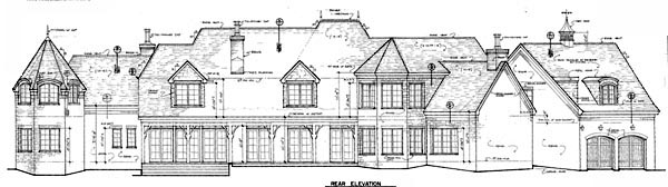 European House Plan 96917 Rear Elevation