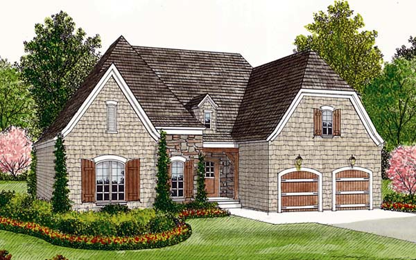 Tudor House Plan 96927 Elevation