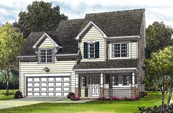 Colonial Traditional House Plan 96931 Elevation
