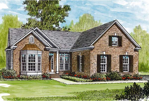 Traditional House Plan 96941 Elevation