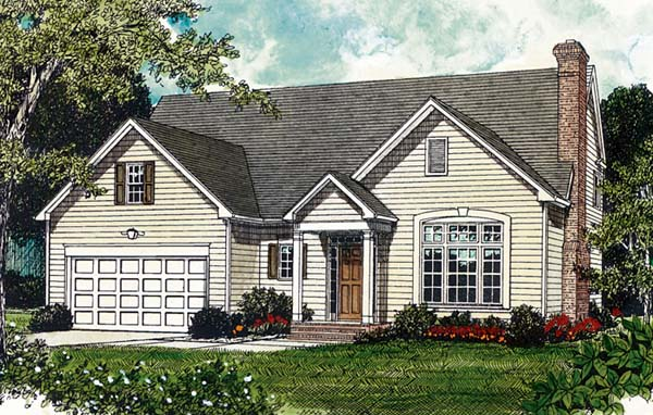 Traditional House Plan 96942 Elevation