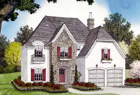European House Plan 96944 Elevation