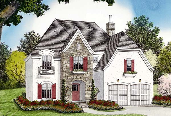 European House Plan 96944 Elevation