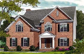 Colonial Traditional House Plan 96947 Elevation