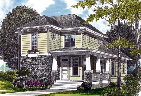 Bungalow Cottage Craftsman House Plan 96949 Elevation