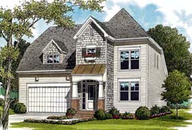 House Plan 96951 | Cottage Craftsman Style Plan with 1920 Sq Ft, 3 Bedrooms, 3 Bathrooms, 2 Car Garage Elevation