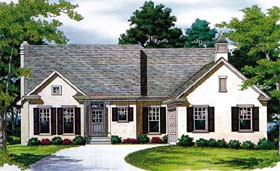Traditional House Plan 96952 Elevation