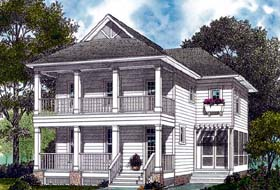 Traditional , Cottage , Colonial House Plan 96956 with 3 Beds, 3 Baths, 2 Car Garage Elevation