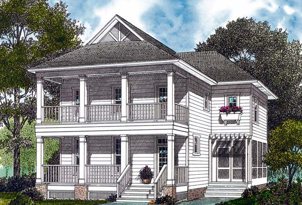 Colonial Cottage Traditional House Plan 96956 Elevation