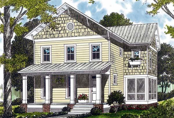 Craftsman , Cottage House Plan 96957 with 3 Beds, 3 Baths, 2 Car Garage Elevation
