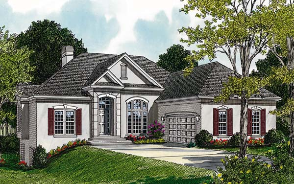 Traditional House Plan 96960 with 4 Beds, 4 Baths, 2 Car Garage Elevation