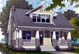 House Plan 96961   Bungalow Cottage Craftsman Style Plan with 2010 Sq Ft, 3 Bedrooms, 3 Bathrooms, 2 Car Garage Elevation