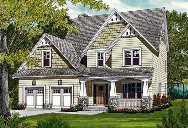 Cottage , Craftsman House Plan 96963 with 3 Beds, 3 Baths, 2 Car Garage Elevation