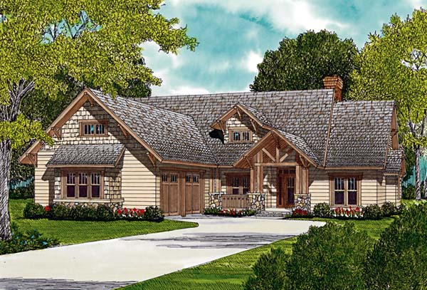 Bungalow Cottage Craftsman House Plan 96965 Elevation