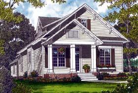 Bungalow Cottage Craftsman House Plan 96967 Elevation