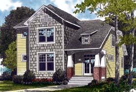 Cottage , Craftsman House Plan 96968 with 3 Beds, 3 Baths, 2 Car Garage Elevation