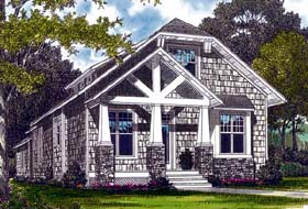 House Plan 96969 | Bungalow Craftsman Style Plan with 2107 Sq Ft, 3 Bedrooms, 3 Bathrooms, 2 Car Garage Elevation