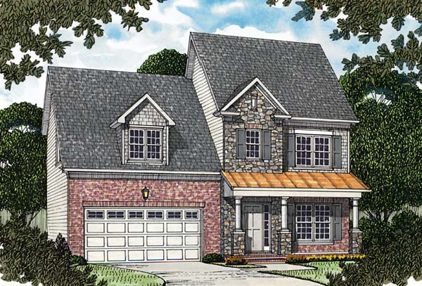 Colonial Traditional House Plan 96975 Elevation