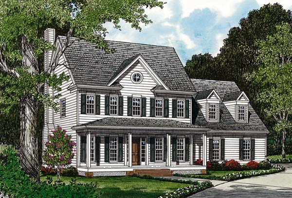 Colonial Farmhouse House Plan 96978 Elevation