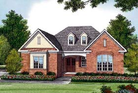 Traditional House Plan 96980 with 3 Beds, 3 Baths, 2 Car Garage Elevation
