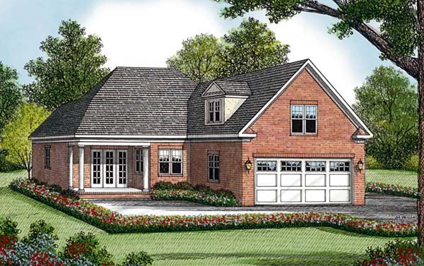Traditional House Plan 96980 with 3 Beds, 3 Baths, 2 Car Garage Rear Elevation