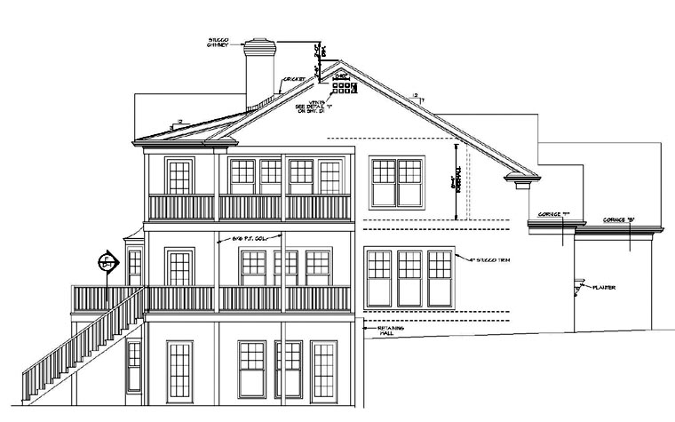Traditional House Plan 96984 with 3 Beds, 3 Baths, 2 Car Garage Picture 2