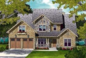 Cottage , Craftsman House Plan 96985 with 3 Beds, 3 Baths, 2 Car Garage Elevation