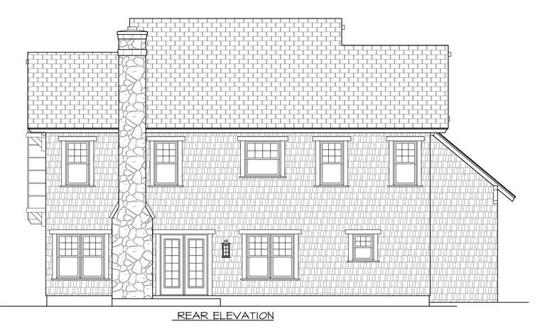 Cottage Craftsman House Plan 96985 Rear Elevation