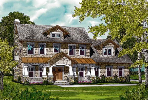 Cottage Craftsman House Plan 96986 Elevation